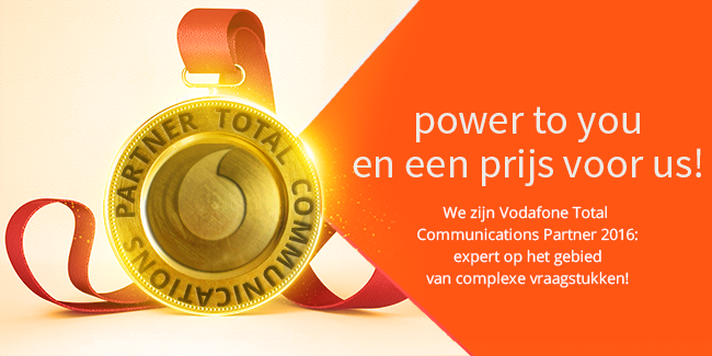 Wederom Vodafone Partner Of The Year!