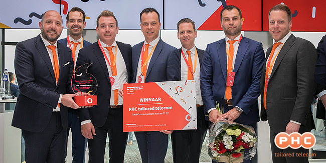PHC derde keer op rij Vodafone Business Partner of the Year
