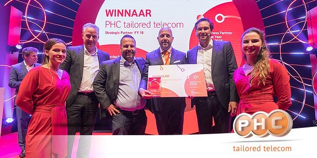 Vier keer op rij: PHC Vodafone Business partner of the Year!
