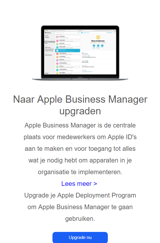 Apple DEP upgrade naar Apple Business Manager